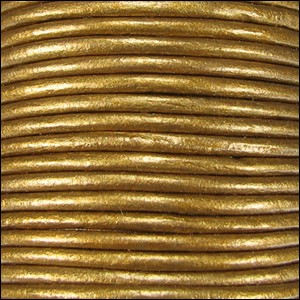 Metallic 2mm Leather per Spool Bronze