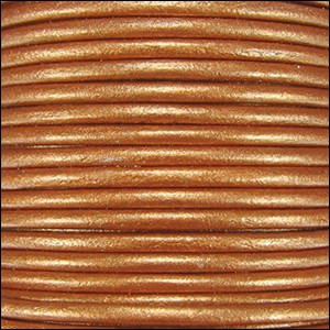 Metallic 1.5mm Leather per spool Burnt Gold