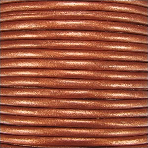 Metallic 2mm Leather per 3 yards Burnt Orange