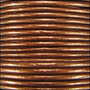 Metallic 1.5mm Leather per spool Dark Copper