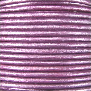 Metallic 1mm Leather per spool Purple