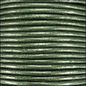 Metallic 1.5mm Leather per 3 yards Olive Green
