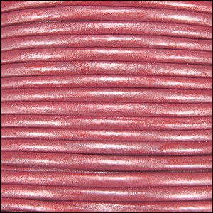 Metallic 1.5mm Leather per spool Fuchsia