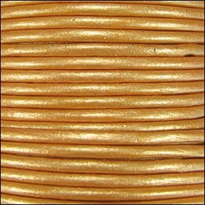 Metallic 1.5mm Leather per 3 yards Lt Old Gold