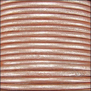 Metallic 1.5mm Leather per spool Salmon Musk