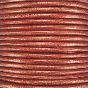 Metallic 1mm Leather per spool Rust