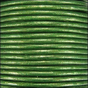 Metallic 1mm Leather per spool Green