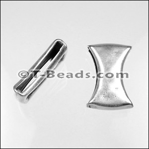 Bowtie Slider per piece- Antique Silver