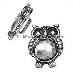 Owl slider ANT SILVER per piece