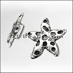 Star fish slider ANT SILVER per piece