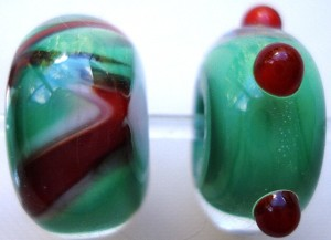 Clear Encased Glass Lampwork Beads