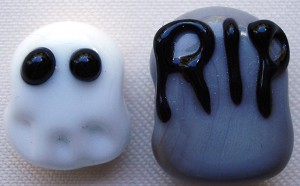 Spooky Beads Glass Lampwork Beads