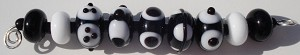 Black and White Mix 1 Glass Lampwork Beads