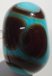 Retro - Turquoise and Brown Glass Lampwork Beads