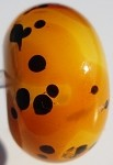 Cheetah Glass Lampwork Beads