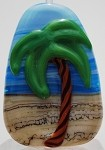 Palm Tree Glass Lampwork Beads