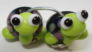 Turtle Babies 4 Glass Lampwork Beads