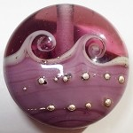 Purple Wave Glass Lampwork Beads
