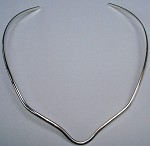 Bent V Neck German Silver Necklace