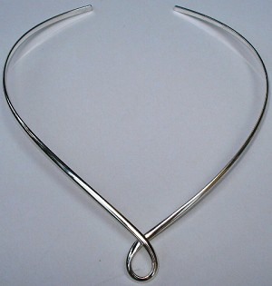 Center Loop German Silver Necklace