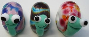 Snails Glass Lampwork Beads