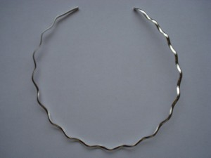 Round Wavy German Silver Necklace