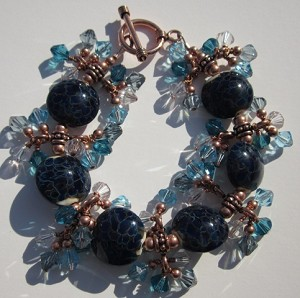 Copper Blue Jangle Bracelet Kit