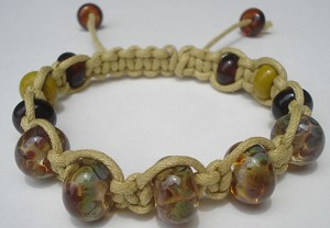 Raku and Beige macrame Bracelet Kit