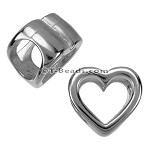 Regaliz™ OPEN HEART spacer ANT. SILVER