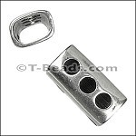 Regaliz™ 3 Hole Tube Spacer Ant Silver