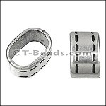 Regaliz™ Small Stitched Spacer Ant Silver