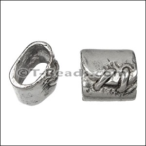 Regaliz™ Stitched Cuff Spacer Ant Silver