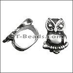 Regaliz™ small owl spacer per piece ANT. SILVER