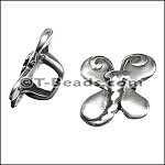 Regaliz™ butterfly spacer per piece ANT. SILVER