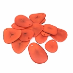 Tagua Nut Thin Slice - Orange