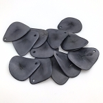 Tagua Nut Thin Slice - Grey
