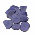 Tagua Nut Thin Slice - Dark Purple