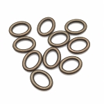 Oval Ring - Brass - pack of 10
