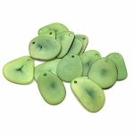 Tagua Nut Thin Slice - Lime Green