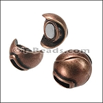 5mm SPHERE magnetic clasp - copper