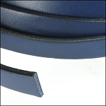 Flat Leather 10mm - per inch Navy