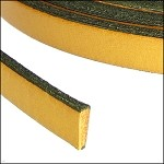Flat Leather 10mm - per YARD Mustard