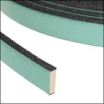 Flat Leather 10mm - per YARD Pastel Emerald Green