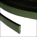 Flat Leather 5mm - per inch Forest/Green
