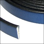Flat Leather 10mm - per inch Electric Blue