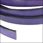 Flat Leather 5mm - per YARD Purple/Black