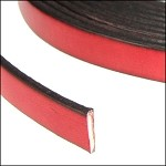 Flat Leather 10mm - per YARD Red