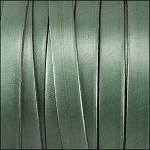 Metallic Flat Leather 5mm - per inch Fern Green