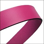 Flat Leather 20mm - per inch Fuchsia