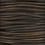 3mm round Indian leather - a.brown - per 4 feet